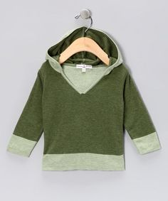 Take a look at this Grass Green Hoodie - Infant & Toddler by HuggyBunny on #zulily today!