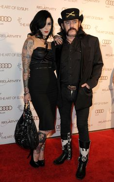 Lemmy Kilmister & Kat Von D. too much awesome for one picture.