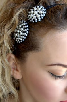 Glamorous Black Headband Black & White Beaded Pearls Headband, Headpiece with Round Shapes Beatrice Black Headband Pearls Headband Headpiece Black Headband, Pearl Headband, Handmade Jewelry, Unique Jewelry, Handmade Gifts, White Beads, Headpiece, Jewelry Accessories, Glamour