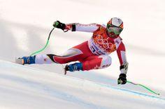 JO Sotchi - 16 février 2014 : Le skieur Jan Hudec a remporté la médaille de bronze lors de l'épreuve du Super-G en ski alpin.