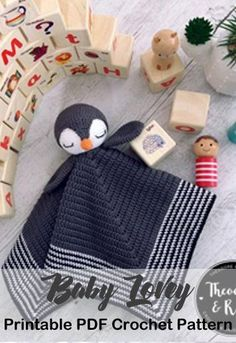 Make a cute penguin baby lovey. Baby Lovey Crochet Patterns - Cute Gifts - A More Crafty Life #crochet #crochetpattern #baby #babygift