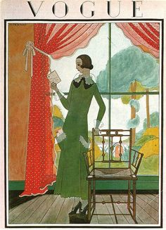 Vogue cover --- March 15, 1923 by Harriet Meserol.