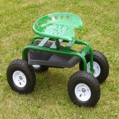 Rolling Garden Seat with Wagon Cart GC1852A Rolling Garden