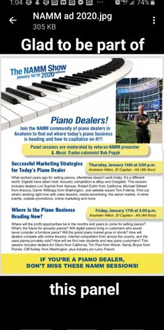 Namm Show, How To Find Out