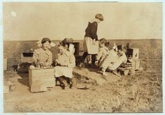 Some original play houses conceived and executed by girls at the Oklahoma School for the Blind. See Ellis report. Photos were not posed. Location: Muskogee, Oklahoma 1917