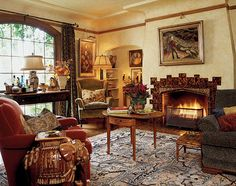english cottage decor | of a 1929 English Tudor cottage has been made lush in the style ...