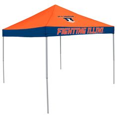 Illinois Fighting Illini NCAA 9' x 9' Economy 2 Logo Pop-Up Canopy Tailgate Tent