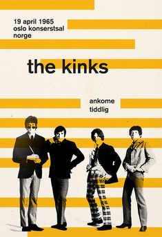 THE KINKS POSTER Retro Minimalist Music Poster Print Vintage Music Show Wall…