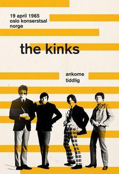 THE KINKS POSTER Retro Minimalist Music por EncoreDesignStudios