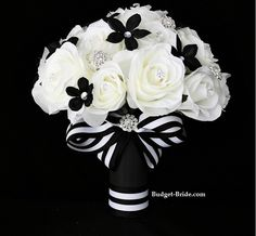 Black n White Collection Item Id: 7005 Bridal Bouquet $240.00