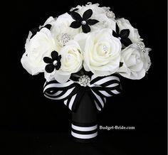 black & white wedding flowers | Black and White Wedding Flowers Bouquet