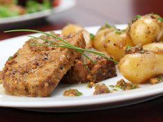 Recette de Rôti de porc à la moutarde et au miel