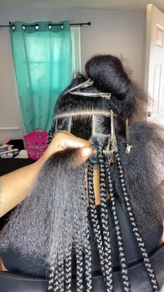 Box Braids Hairstyles For Black Women, Feed In Braids Hairstyles, Braids Hairstyles Pictures, Faux Locs Hairstyles, Braids For Black Hair, Hair Pictures, 2 Feed In Braids, Braided Hairstyles For Teens, Kids Box Braids