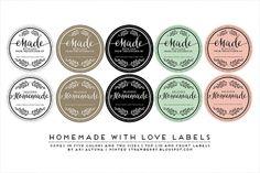 Free Printable Homemade Mason Jar Labels - mintedstrawberry.blogspot.com