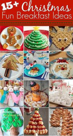 15+ fun Christmas breakfast ideas via http://momendeavors.com #Christmas