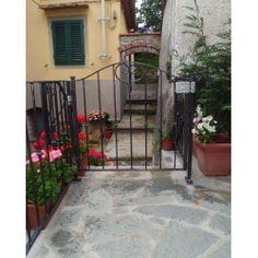 Wrought Iron Pedestrian Gate. Customize Realisations. 046 Pedestrian, Wrought Iron, Gate, Applique, Outdoor Decor, Design, Home Decor, Decoration Home, Portal
