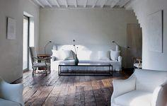 donkere houten vloer