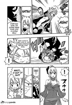 OMG Natsu in a pinch but now he is forced to watch Lucy's dress form disappear?  Fairy Tail 478 - Page 15