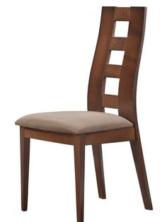 """Global D3904DC Side Chair - Wooden Dining Chair with fabric seat. Dimensions: L23"""" x D20"""" x H40""""."""