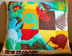 Cushion # 1 : Kiwiana Cushion - $25.00