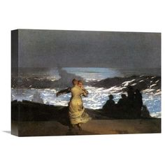 Global Gallery 'A Summer Night' by Winslow Homer Painting Print on Wrapped Canvas Size: 1
