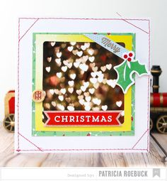 American Crafts Merry Christmas Photo Card by patricia at @Studio_Calico