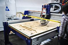 CNC ROUTER : computer controlled shaping machine that routs out hard workpiece, typically of wood, aluminium or plastic, in 5-axis. this tool can be used in the production of many different items, such as door carvings, interior and exterior decorations, wood panels, sign boards, wooden frames, moldings, musical instruments, furniture,... The rooter enables hobbyist and small business to make significant constructions at low cost.