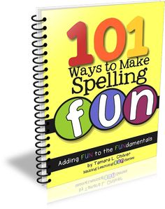 Amazing Spelling Supplement filled with 101 fun ways to teach spelling