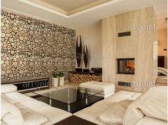 """Introduce madera a su interior con la ayuda de un fotomural original """"Tree rings"""" #fotomurales #decoraciones #puerta #adornos #home #decor #wallpapers"""