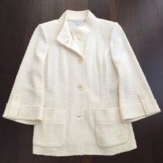 St.  John Jacket. Very good condition. Like new. Gently worn. You can wear it for a Cassual or elegant occasion St. John Jackets & Coats Utility Jackets