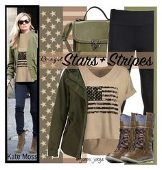"""Patriotic Print - Military Style - Rosegal Contest"" by goreti on Polyvore featuring Surya, rosegal, summer2017 and Spring2017"