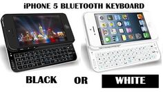 Bluetooth Accessories - iPHONE 5 BLUETOOTH QWERTY KEYBOARD CASE WITH BACKLIGHT + CHARGER CABLE- CHOOSE BLACK OR WHITE was sold for R349.00 on 3 Jun at 22:16 by ONLINE SHOPPING MALL in Johannesburg (ID:98481512)