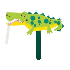 Alligator Puppet Craft Kit - OrientalTrading.com Craft Day, All Craft, Craft Stick Crafts, Craft Kits, Fun Crafts For Kids, Crafts To Do, Arts And Crafts, Diy Crafts, Helicopter Craft