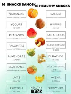 16 healthy snacks. 16 snacks sanos