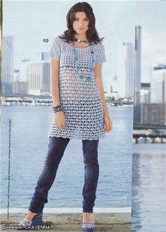 vestidos a crochet facil de hacer - LA CASITA DE MABELY - Gabito Grupos