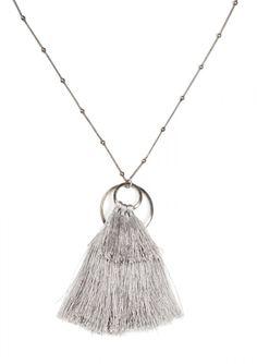 Silver Tassel Necklace 18,90€ #happinessbtq