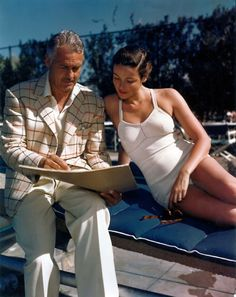 Husband and wife -- Oleg Cassini and Gene Tierney