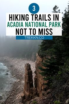 3 Hiking Trails in Acadia National Park Not to Miss - One of the best things to do in Acadia National Park is to hit their incredible hiking trails. Acadia National Park Hiking, National Parks Usa, North Cascades National Park, Colorado Hiking, Canyon Colorado, Hiking Places, Hiking Tips, Travel Activities, Best Hikes