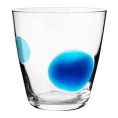 """FABULÖS glass, turquoise Height: 4 """" Volume: 10 oz Height: 9 cm Volume: 30 cl"""