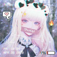 Edit by Yuln Dark Anime Girl, Cool Anime Girl, Sad Anime, Anime Neko, Kawaii Anime Girl, Anime Art Girl, Anime Love, Cool Anime Pictures, Cute Anime Pics