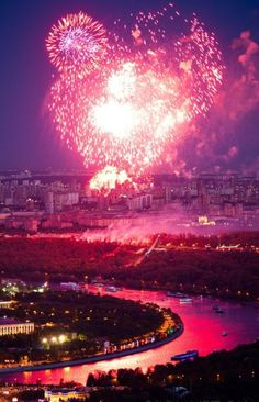 Fireworks in Moscow, #Russia.