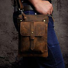 Vintage Leather Messenger Bag, Leather Backpack For Men, Small Leather Bag, Leather Fanny Pack, Messenger Bag Men, Leather Bags Handmade, Leather Pouch, Leather Shoulder Bag, Leather Craft