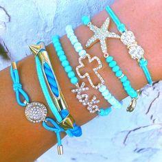 Cute bracelets !!... and it's BLUE! ...so <3 it =)