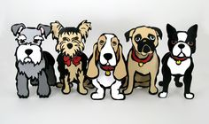 Marc Tetro Pop-Out Dogs
