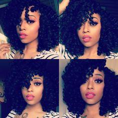 Crochet hairstyle using Jamaican bounce hair again