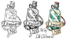 Drink me (bottle) by lavonne.deviantart.com on @deviantART