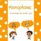Homophones are similar sounding words with different spellings and meanings. These worksheets on homophones are tailored for Grade 1 , 2 and 3 kids...