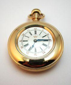 ANTIQUE c1890 WATERBURY WATCH CO. N SERIES POCKET WATCH, GOLD PLATED HALF HUNTER
