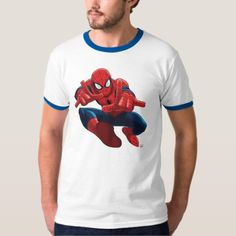 Spider-Man Shooting Web High Above City T-Shirt - click to get yours right now!