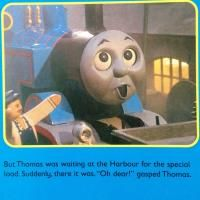 Memefrontier.com is showing off an amusing image | Not a meme | The day Thomas the Train learned about the Grownup World